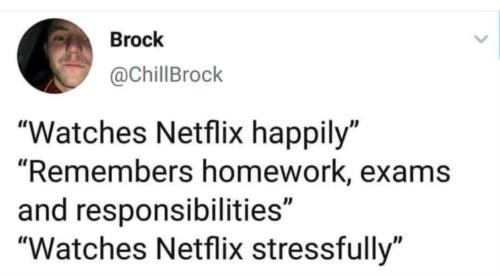 Netflix 😁never make you do any work
