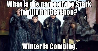 What is the name of the Stark family barbershop?
