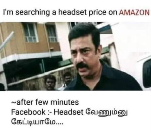 Google Amazon Facebook ad meme